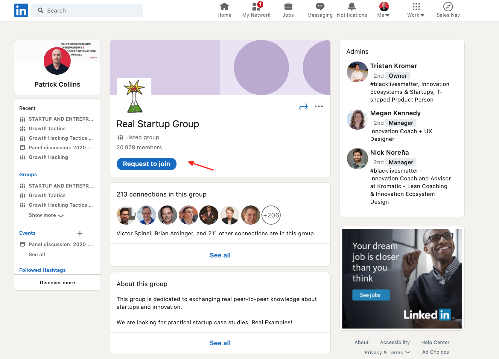 Linkedin lead generation by groups