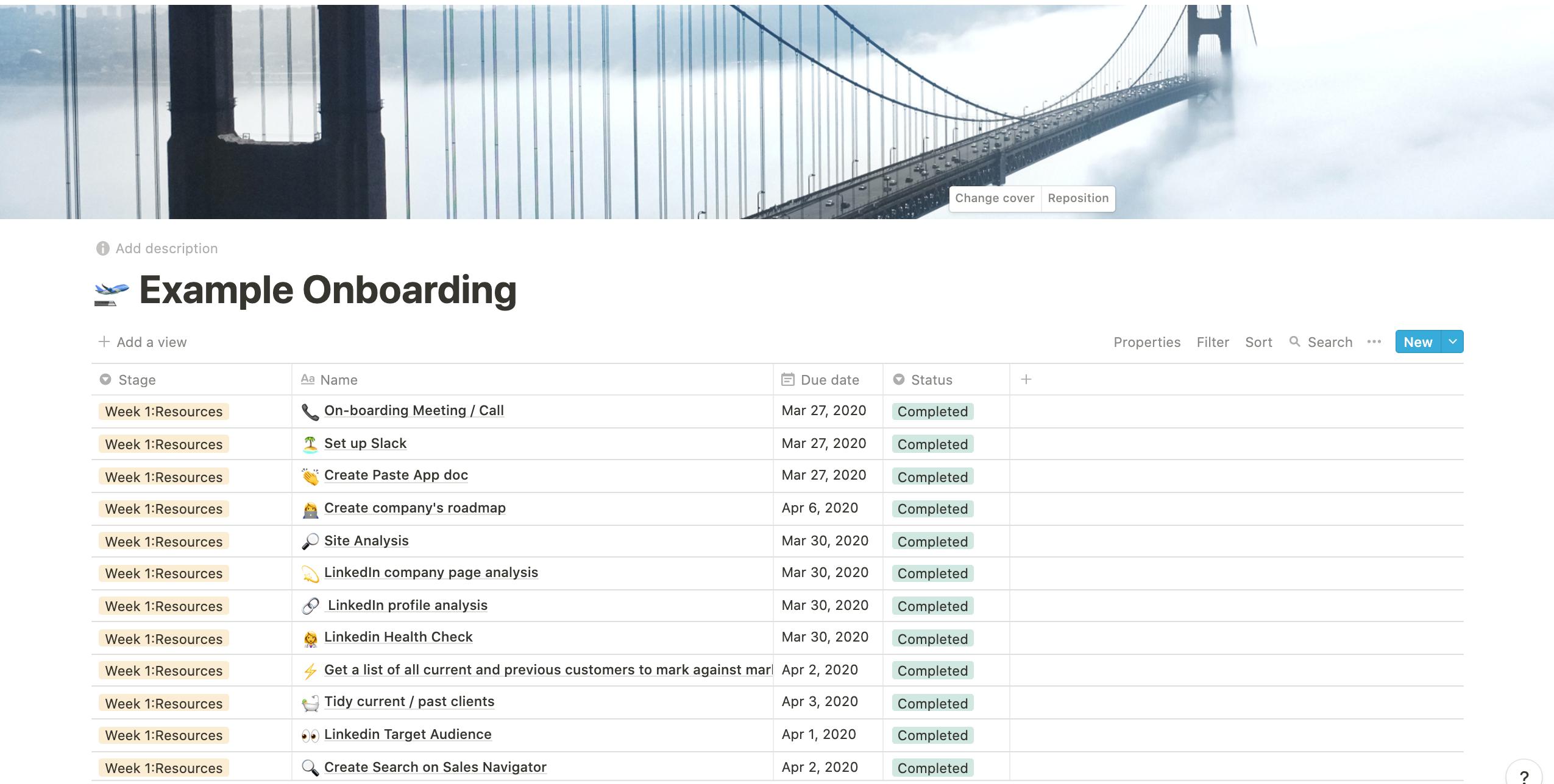 Example Onboarding