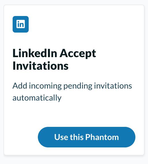 LinkedIn accept invitations