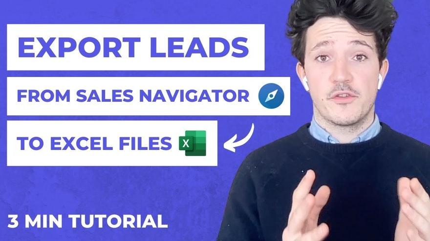 Como exportar leads do LinkedIn Sales Navigator? [Guia 2021]