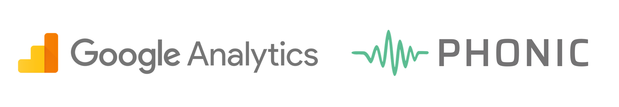 phonic is now integrated with google analytics