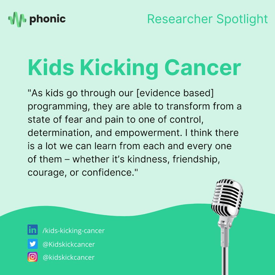 Researcher Spotlight: Kids Kicking Cancer
