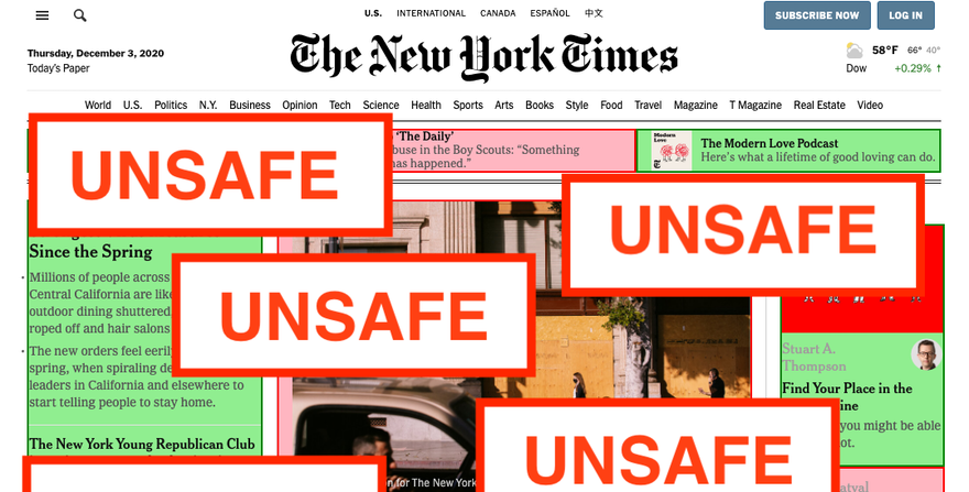 Tens of thousands of news articles are labeled as unsafe for advertisers