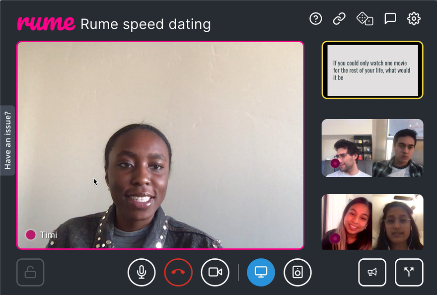 Rume How-Tos: Virtual Speed Dating