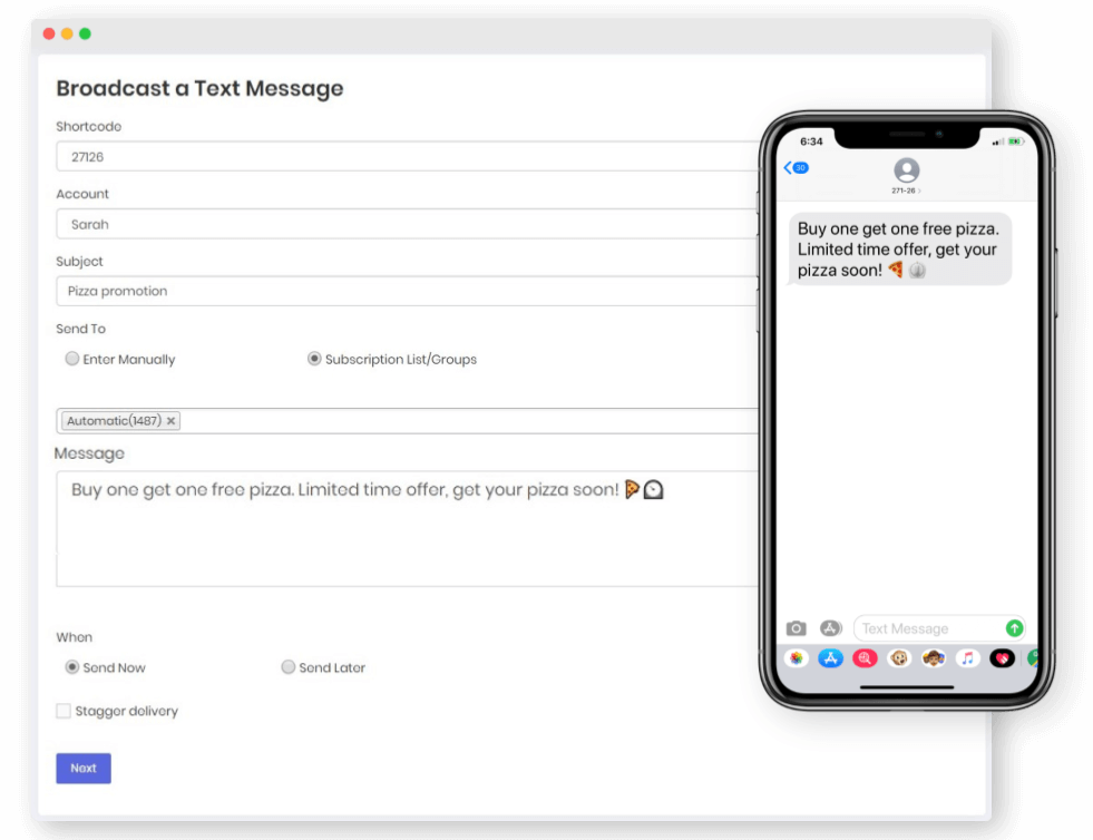 mass texting