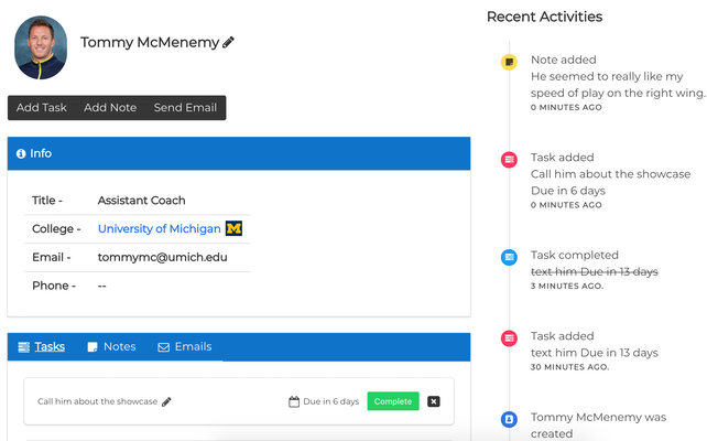 Coach Relationship Manager