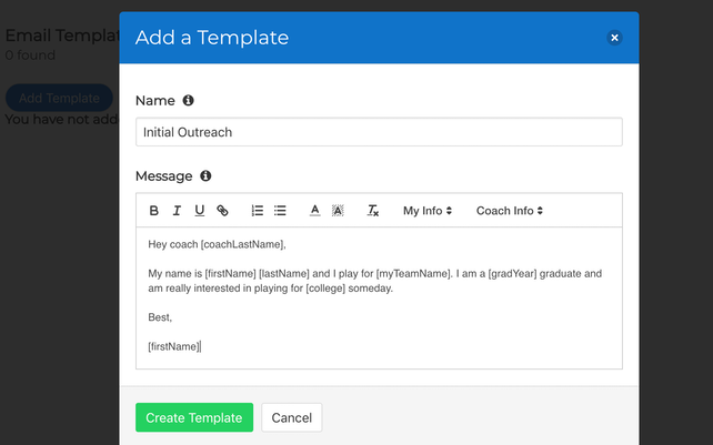 Soccercruit Email Template