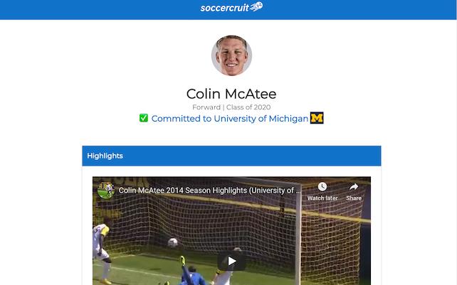 Soccercruit Resume Builder