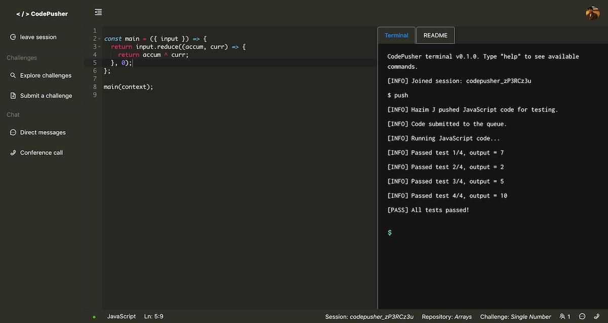 codepusher code editor