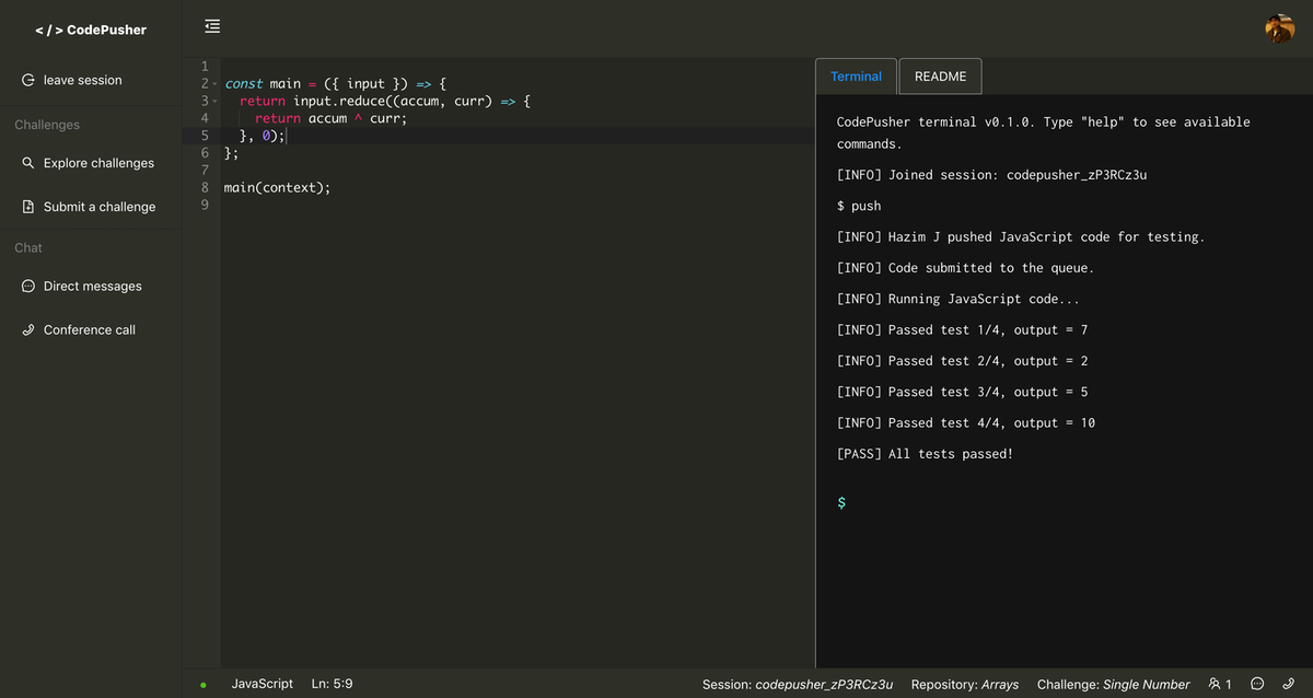 codepusher code editor