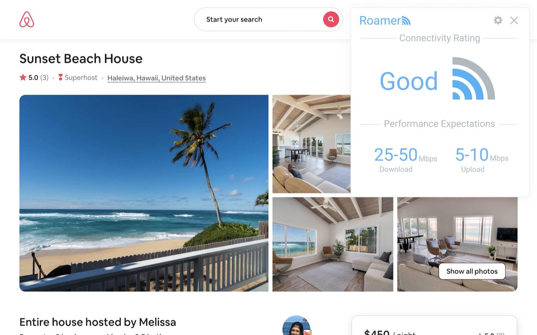 Roamer browser extension screenshot