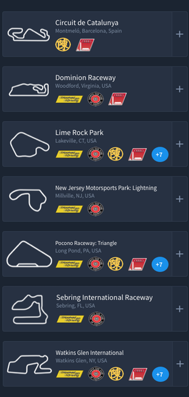 List of racetracks hosting public events