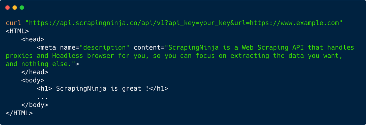 ScrapingNinja - Web Scraping API