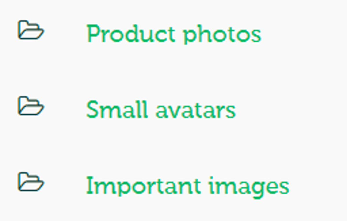 Organize by using folders