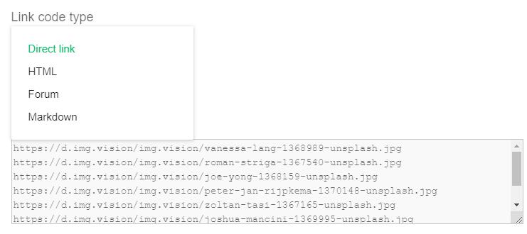 Link code generator